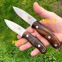 Mk II TBS Lynx Bushcraft Knife - Turkish Walnut - Multi Carry Sheath